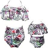 Baby Girls Bikini Swimsuit Set Family Matching Mother Girl Swimwear (Purple-Girl, 2-3T)