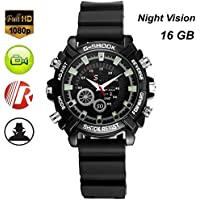 Hanpeng 16GB Wrist Smart Watch Camera HD 1080P Infared Night Vision Mini Camera
