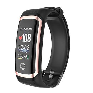 Pulsera Actividad Fitness Tracker Reloj Deportivo Pulsera De Monitor De Presión Sanguínea En Tiempo Real,Black: Amazon.es: Deportes y aire libre