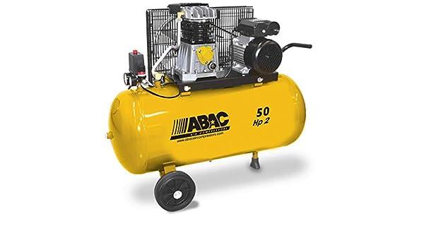 Abac - Compresor de pistones Lubrifié 50L 10 bar 2 CV 13,2 M3/H - B26/50 CM2 baseline: Amazon.es: Bricolaje y herramientas