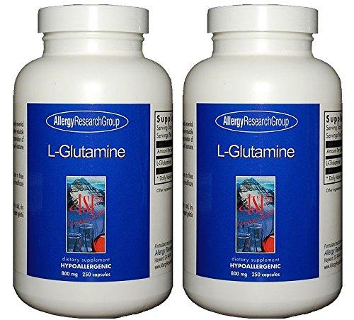 グルタミン 800mg (L-Glutamine 800 Mg 250 Caps) [海外直送品] 2ボトル B00UF8OQZM