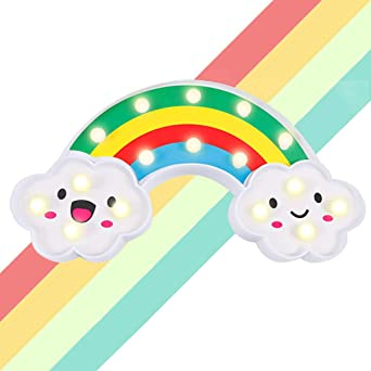 Perfect Gift Cloud Shape LED lights and battery. Cloud Lamp Flat 16 inches
