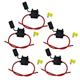 OcrFuse Holder 14Guage Waterproof Automotive Blade Fuse Holder with 20AMP Fuse 10PCS (14Guage)