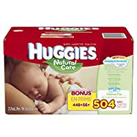 Huggies\x20Natural\x20Care\x20Baby\x20Wipes,\x20Refill,\x20504\x20Count