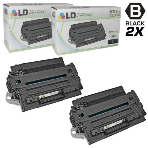 ements for Hewlett Packard CE255A (HP 55A) Set of 2 Black Laser Toner Cartridges for use in HP LaserJet, LaserJet Enterprise, and LaserJet Pro Series Printers ()