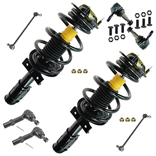 8 Piece Strut & Spring Assemblies Sway Links Tie Rods Ball Joints Kit for GM SUV
