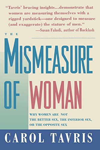 the struggles of women in society in the mismeasure of women by carol tavris Dr carol tavris, author of the mismeasure of woman  against sexism in the  neurosciences and the struggle against sexism in society are intimately linked.