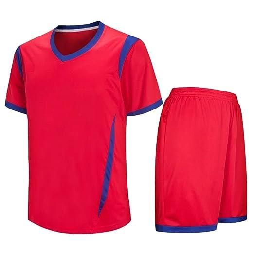 Amazon.com: ZEVONDA Adult Child Breathable Sportswear Polyester Football Clothes T-shirt & Shorts Set Team Training Sports Suit All Sizes: Clothing