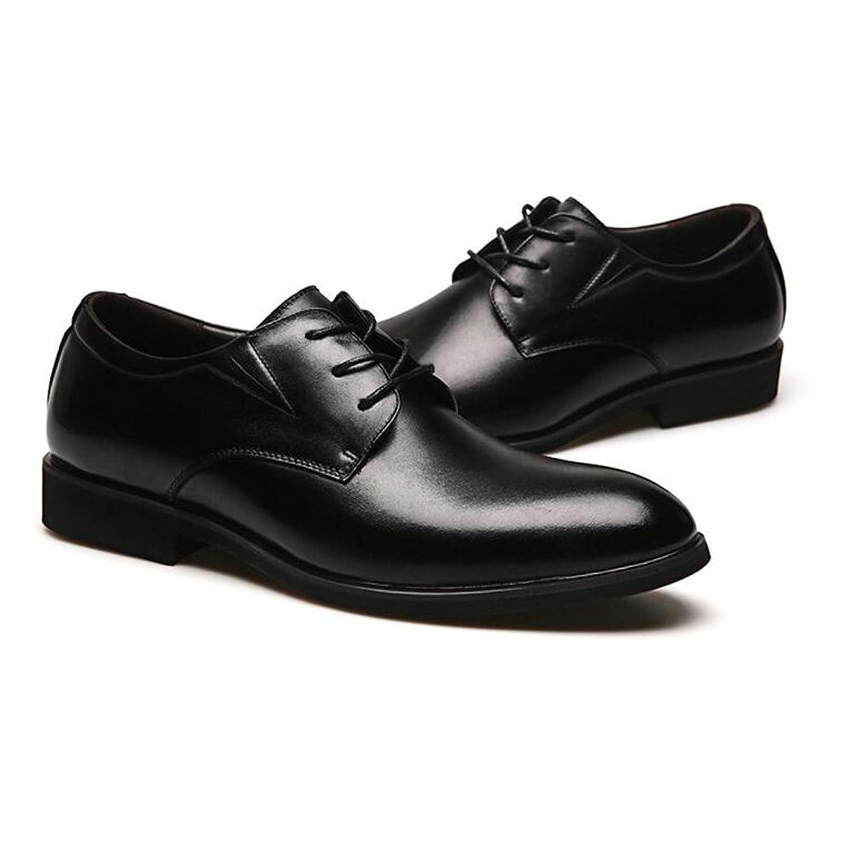 Lederschuhe Dermis Männer Mode Freizeit Business Casual Comfort weissshe Formelle Kleidung Passende Schuhe Black