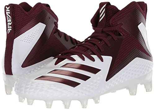 Pictures of adidas Men's Freak X Carbon Mid DB0570 White/Maroon/Maroon 4