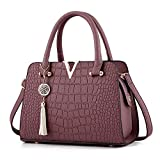 Liraly Women Bags,Big Promotion! 2018 Womens Tassel Crossbody Bags Leather Handbag Alligator Pattern Shoulder Bag (Purple)