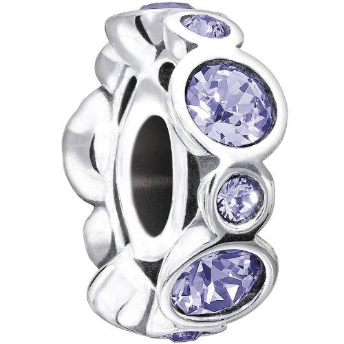 "Chamilia ""Birthstone Jewels"" Sterling Silver and Swarovski Crystal June Bead Charm"