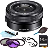 Sony SELP1650 - 16-50mm Power Zoom E-Mount Lens Essentials Bundle
