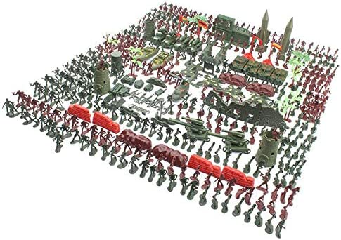 219 Pieces Of Military Figures And Accessories, Army Men'S Action Figures Army Toy Set Cool Mini Action Figure Toy Set With Soldiers, Vehicles, Planes And Ships