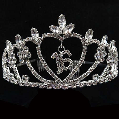 EBTOYS Rhinestone Tiara Princess Tiara - 16th Birthday Party Tiara Crown Hair Accessories