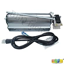 GFK4, FK12, FK24 Replacement Fireplace Blower Fan with 3-prong power cord for Monessen, Vermont Castings, Majestic, Temco, Rotom R7-RB12