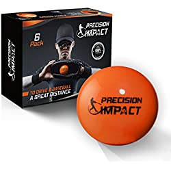 Precision Impact Firm Slugs: Heavy Weighted Practice Balls for Baseball/Softball; Hitting Training Aid (6-Pack)