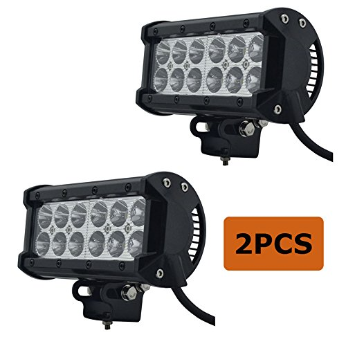 Simplive/® 4PCS 7 Inch 36W 3600LM CREE Flood Led Work Light Bar For Off-road SUV Boat 4x4 Jeep Lamp with Mounting Bracket