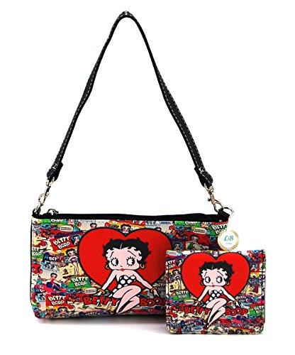 - Betty Boop Small Handbag and Wallet Set (Big Heart)
