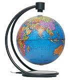 Stella Nova Political Blue Ocean Levitating Globe, 8-Inch