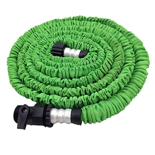 Price comparison product image 2017 Newest FlatLED Garden Water Hose, 75Ft Green Collapsible Flexible Expanding Retractable Automatically Without Spray Nozzle