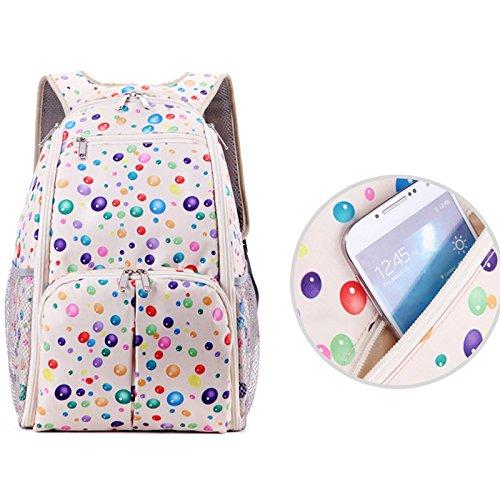 Gosear 2 piezas Múltiples Funciones Bolso Kit de Bebé Niños Seguridad Mochila para Niños y Padres Mamá,Blanco Blanco