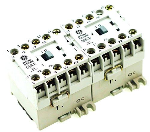 GE CR6VBH3B REVERSING MAGNETIC CONTACTOR FITS SPRECHER SCHUH CAU4-9-01-24Z-NO 24V AC COIL DIN RAIL MOUNT