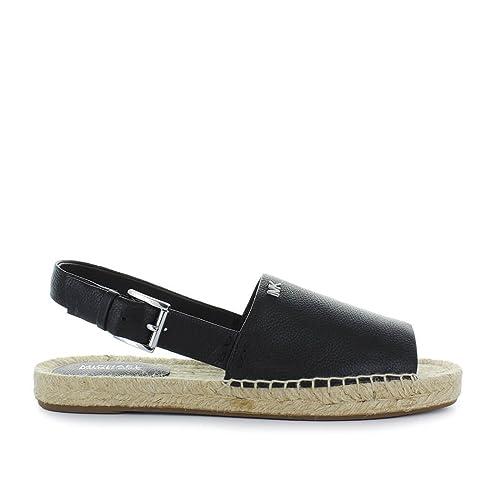 Michael Kors Zapatos de Mujer Sandalia Alpargata Fisher Negra Primavera Verano 2018: Amazon.es: Zapatos y complementos