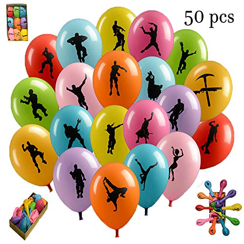 NOVAASTORE Gaming Birthday Party Balloons | Kids Party Gamer Ballons and Party Decoration Supplies | Game Party Favors, Assorted Color, Double Side Latex Design