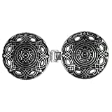 Evelots Intricate Cloak Or Cape Clasp, Stylish Vintage, Cardigan Clip Jewelry