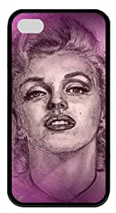 Pink Ladoo? iphone 4/4s iphone 4/4s Case Phone Cover Captivating Marilyn Monroe Material Black