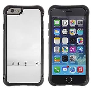 """Pulsar iFace Series Tpu silicona Carcasa Funda Case para Apple iPhone 6+ Plus(5.5 inches) , Invierno Árboles blancos minimalista Fría"""""""