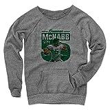 500 LEVEL's Donovan McNabb Big 5 G Philadelphia Throwbacks Women's Maniac Sweatshirt M Gray Officially Licensed by Donovan McNabb