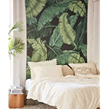 """Banana Leaf Wall Hanging Tapestry Fabric Wallpaper Home Decor,60""""x 80"""",Twin Size"""