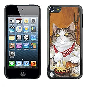Paccase / SLIM PC / Aliminium Casa Carcasa Funda Case Cover - Cat Pope God Vatican Shorthair Necklace - Apple iPod Touch 5