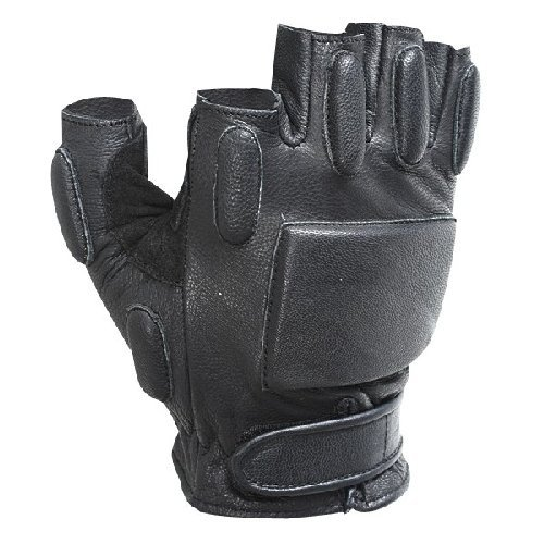VooDoo Tactical 06 8185001094 Rapid Rapel Gloves (Half Finger), Black, Large