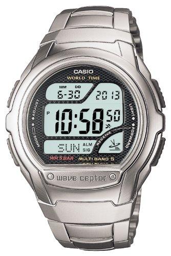 Digital Waveceptor Watch (CASIO watch WAVE CEPTOR Waveceptor digital model of the radio clock MULTI BAND5 WV-58DJ-1AJF mens watch)