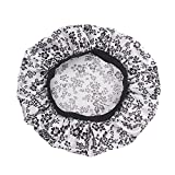 JPOQW Women Chemo Turban Hat Satin Floral Wide-Brimmed Hair Band Nightcap Chemotherapy Hat Hair Loss Cap