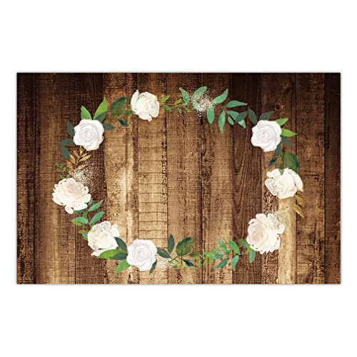 25 Pack Paper Placemats Rustic Country Pretty Rose Wreath Birthday Engagement Parties Wedding Rehearsal Dinner Indoor Outdoor Easy Cleanup Disposable Table Decor 17