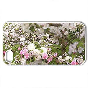 Apple blossoms - Case Cover for iPhone 4 and 4s (Flowers Series, Watercolor style, White)