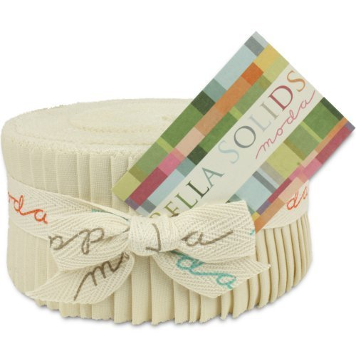 Moda Natural (Bella Solids Natural Jelly Roll 40 2.5-inch Strips Moda Fabrics 9900JR 12)