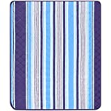 """Extra Large Outdoor Picnic Blanket,79 X 79"""" Waterproof Backing Soft Fleece Material Camping Tote Mat"""