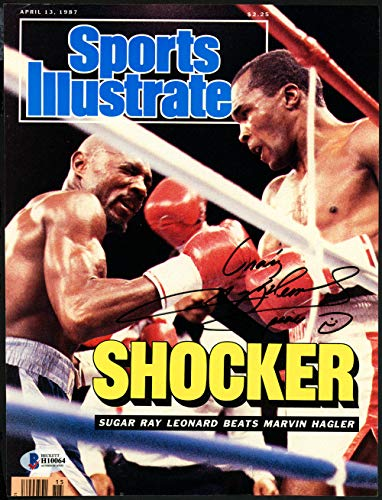 Sugar Ray Leonard Hand Signed - Sugar Ray Leonard Autographed Signed Memorabilia Sports Illustrated Magazine Cover To Craig, Peace Vintage - Beckett Authentic