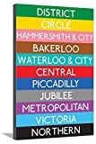 AllPosters London Underground Tube Lines Travel Stretched Canvas Print, 36 x 24''