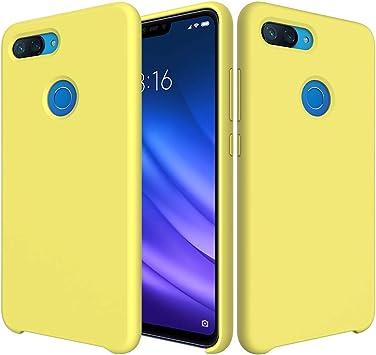 SpiritSun Funda Xiaomi Mi 8 Lite, Líquido Silicona Carcasa Case ...