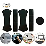 Micowin Sticky Gel Pad, Fixate Sticky Phone Holder Gel Pad Sticker Anywhere Sticky (Black,5pack)