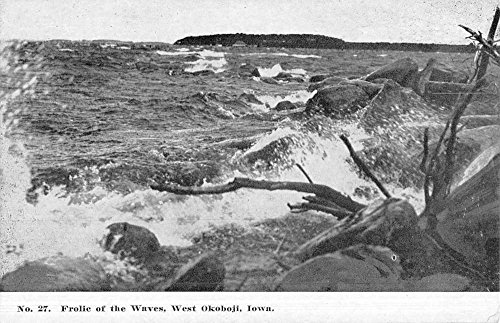 West Okoboji Iowa Frolic Of Waves Scenic View Antique Postcard K49407