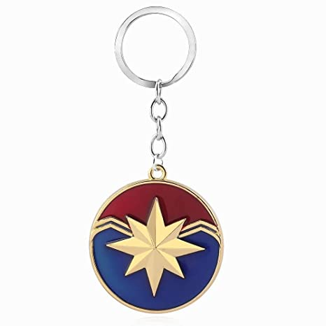 Amazon.com: Marvel jewelry Captain Marvel Shield Keychain ...