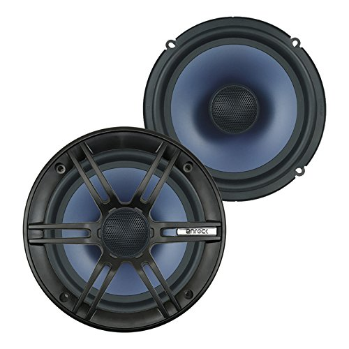 "EnrockMarine EC1865BM 6.5"" 2-Way Marine Certified Coaxial Car/Boat Audio Stereo Speakers (Pair)"