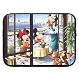 LOSUJSDB Mickey and Minnie Mouse Couple Water-Reaistant Laptop Sleeve Case Bag Portable Messenger Bags Briefcase Sleeve Protective Carrying Bags Cover 13/15 Inch